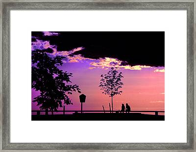 Framed Print featuring the photograph Summer Romance by Mike Flynn