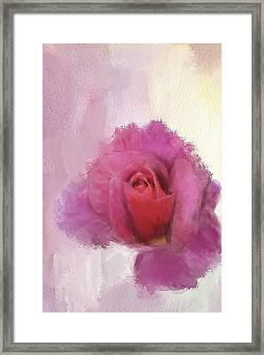 Framed Print featuring the digital art Summer Rose by Mary M Collins