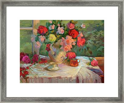 Summer Roses Framed Print