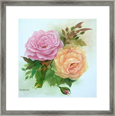 Summer Roses Framed Print by Francine Henderson