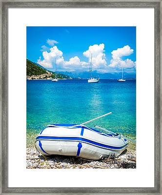 Summer Sailing In The Med Framed Print by Peta Thames