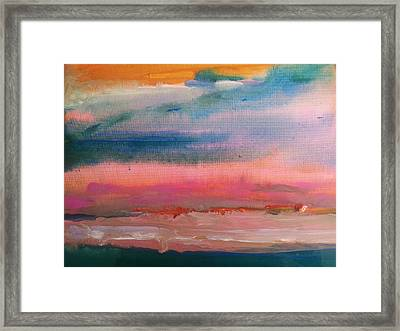 Summer Seascape Framed Print