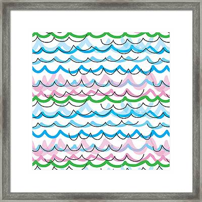 Summer Seaside  Framed Print
