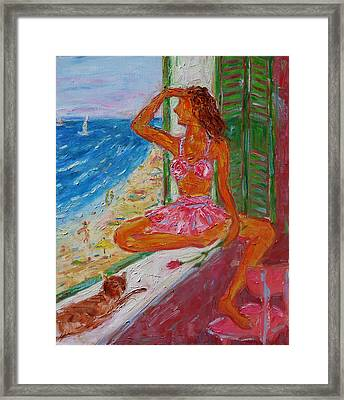 Summer Sensibility Framed Print by Xueling Zou