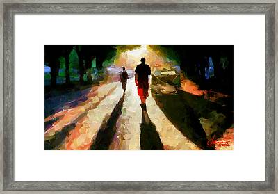 Summer Shadows Tnm Framed Print by Vincent DiNovici