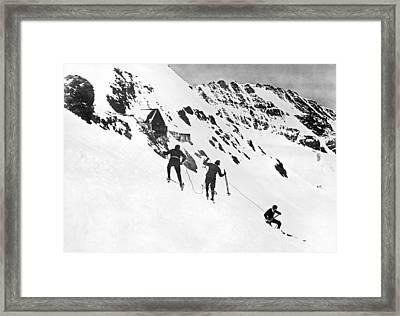Summer Ski Race In Switzerland Framed Print by Underwood Archives
