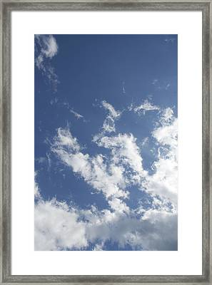 Framed Print featuring the photograph Summer Sky by Dorothy Maier