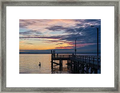 Summer Solstice At Crescent Beach Framed Print by Paul W Sharpe Aka Wizard of Wonders