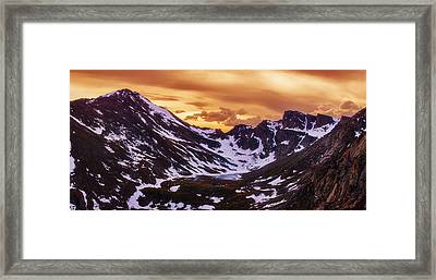 Summer Solstice Sunset Framed Print