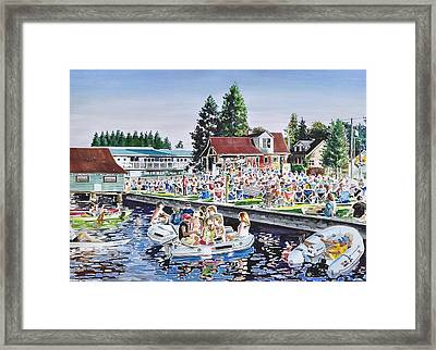 Summer Sound In The Park Framed Print