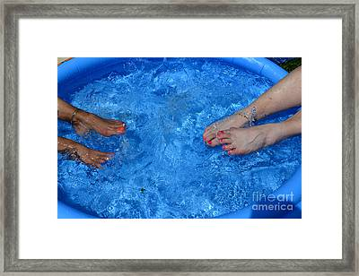 Summer Splash Framed Print by Paul Ward