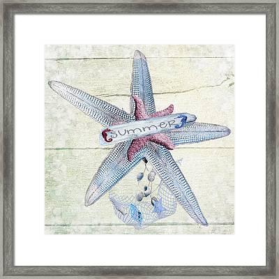 Summer Starfish Framed Print