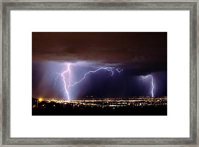 Summer Storm- Albuquerque 2009 Framed Print