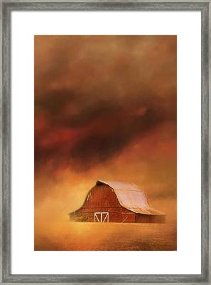 Summer Storm At The Barn Framed Print