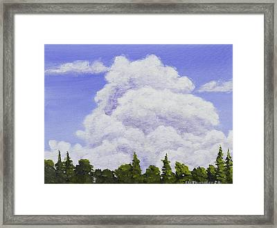 Summer Storm Clouds Over Maine Forest Framed Print