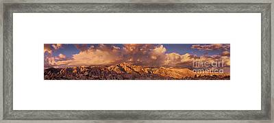 Framed Print featuring the photograph Summer Storm Clouds Over The Eastern Sierras California by Dave Welling