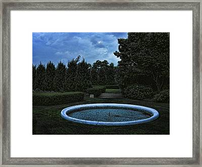 Summer Storm Coming Bahai Temple Framed Print