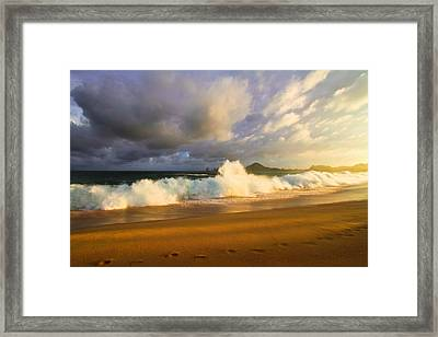 Framed Print featuring the photograph Summer Storm by Eti Reid