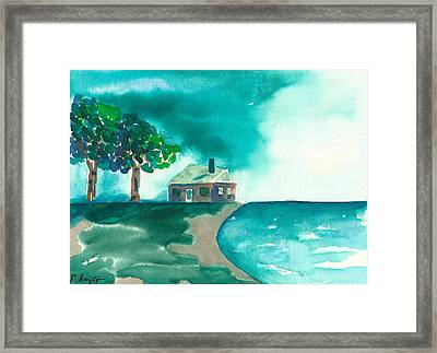 Summer Storm Framed Print by Frank Bright