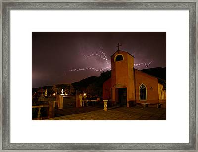 Framed Print featuring the photograph Summer Storm by Riana Van Staden