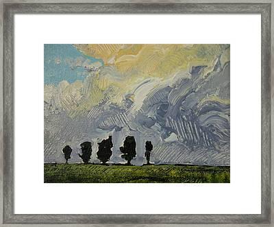 Summer Storm Framed Print by Rodger Ellingson