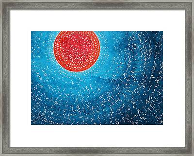 Summer Sun Original Painting Framed Print