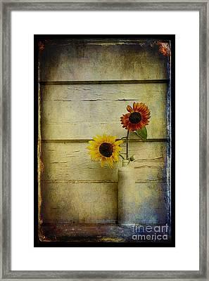 Summer Sunflowers Framed Print by Sari Sauls