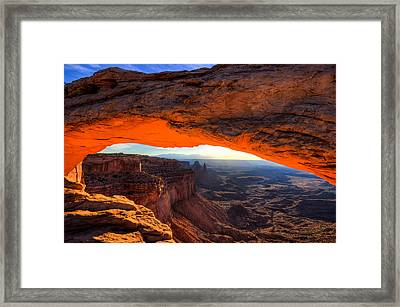 Summer Sunrise At Mesa Arch Framed Print