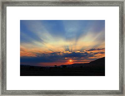 Framed Print featuring the photograph Summer Sunrise by Lynn Hopwood
