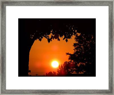 Summer Sunrise Right Side Framed Print by Thomas Woolworth