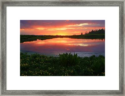 Summer Sunset Above Lake Creek. Framed Print by Johnny Adolphson