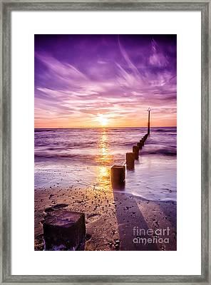 Summer Sunset Framed Print by Darren Wilkes