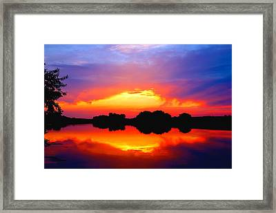 Summer Sunset  Framed Print by Lynn Hopwood