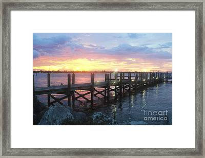 Summer Sunset Framed Print by Megan Dirsa-DuBois