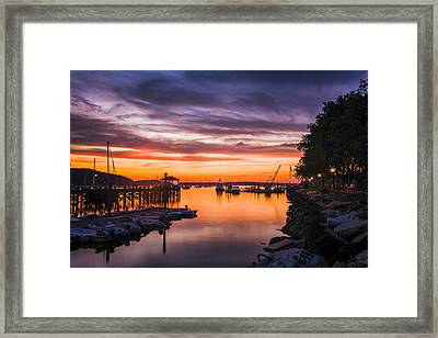 Summer Sunset Framed Print by Mike Lang