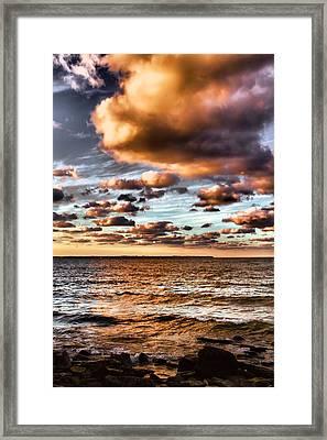 Summer Sunset On The Lake Framed Print