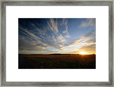 Summer Sunset Over Africa Framed Print