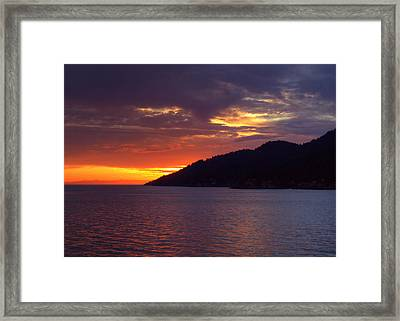 Summer Sunset Framed Print by Randy Hall