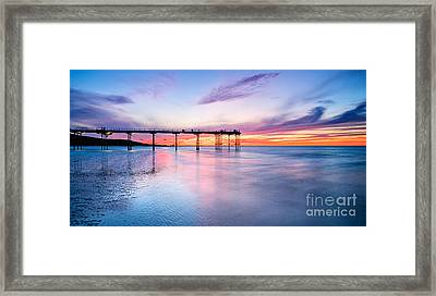 Summer Sunset Saltburn Framed Print by Janet Burdon
