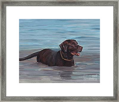 Summer Swim Framed Print by Charlotte Yealey