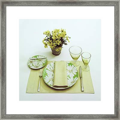 Summer Table Setting Framed Print by Haanel Cassidy