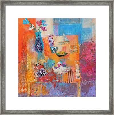 Summer Table Framed Print by Sylvia Paul