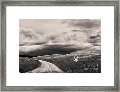 Summer Tempest Framed Print