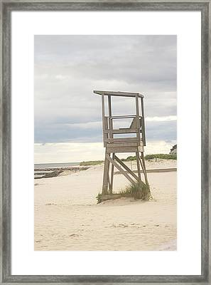 Summer Throne Lifeguard Chair Framed Print by Suzanne Powers