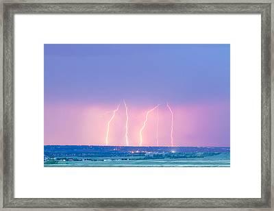 Summer Thunderstorm Lightning Strikes Framed Print by James BO  Insogna