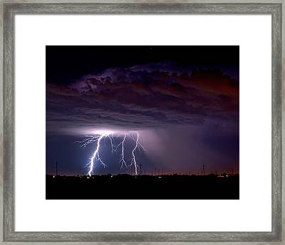 Summer Thunderstorm San Joaquin Valley Ca Framed Print by Troy Montemayor