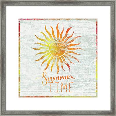 Summer Time Framed Print by Cora Niele