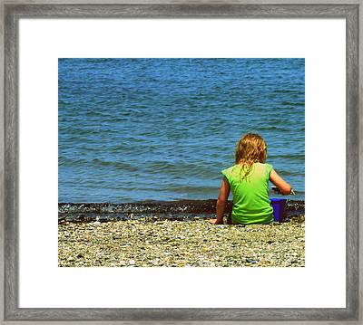 Summer Time On The Coast Of Maine Framed Print by Christy Beal