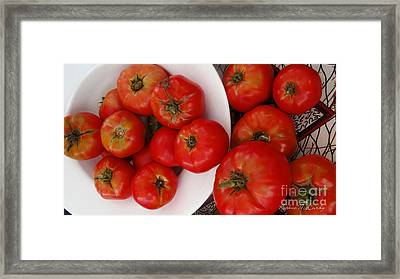 Summer Tomatoes Framed Print by Kathie McCurdy