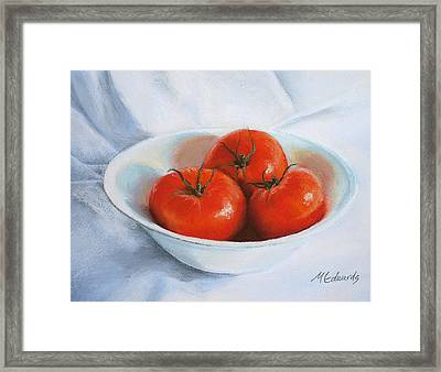 Summer Tomatoes Framed Print by Marna Edwards Flavell